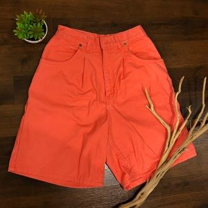 "Vintage Coral 'Chic' Brand ""Mom Shorts"""